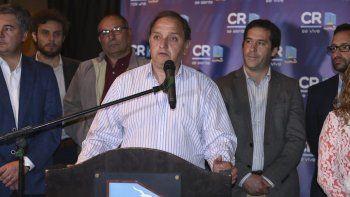 Carlos Linares al encabezar ayer la presentación del Presupuesto Municipal 2019.