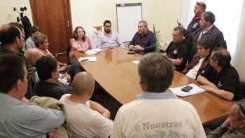 Excombatientes hicieron conocer su malestar a la ministra de Familia de Chubut.