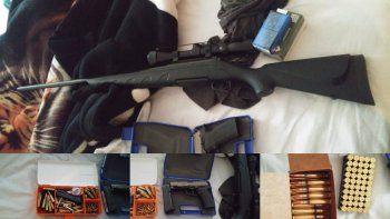 En un allanamiento por un caso de violencia de género secuestraron armas