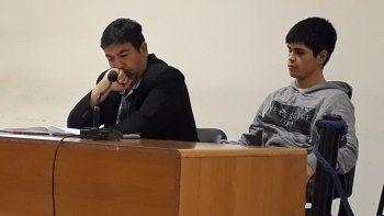 José Luis Gajardo junto a su abogado defensor Alejandro Fuentes.