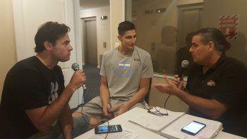 Franco Giorgetti dialoga con los muchachos de unocontraunoweb, Fabián Pérez y Julián Olmedo.