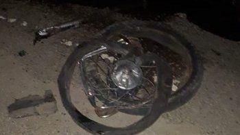 motociclista grave tras chocar contra un camion en kilometro 14