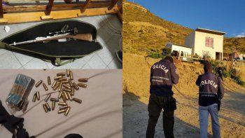 allanamientos simultaneos: secuestran un fusil y municiones