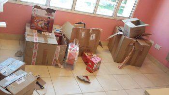 robaron un cpb y se llevaron hasta los regalos de los ninos