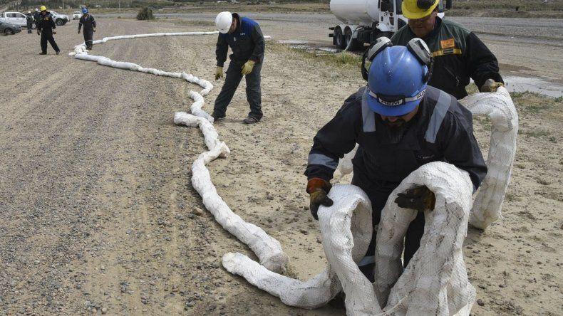 Por el simulacro de derrame de petróleo en el ducto de 18 pulgadas
