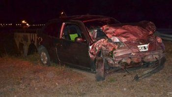 accidente en la doble trocha: murio un joven de 21 anos
