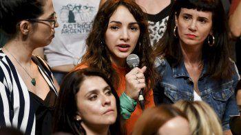 Thelma Fardín junto al colectivo de actrices argentinas al denunciar públicamente a Juan Darthés.