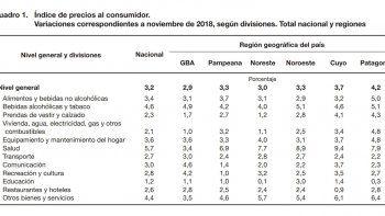 la inflacion en la patagonia subio un  punto mas que el promedio nacional