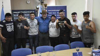 La presentación del festival de boxeo ameteur se realizó el último miércoles en el gimnasio municipal 1.