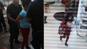 detuvieron a una joven de 21 anos por robar un bebe en un shopping