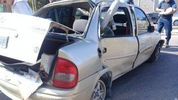 un nino de 3 anos salio despedido de un auto tras un choque