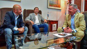 Adrián Maderna se reunió ayer con Arcioni y Sastre.