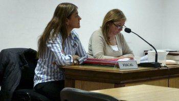 La fiscal Laura Castagno y la funcionaria de Fiscalía, Marisol Sandoval.