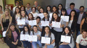 Diecisiete estudiantes secundarios se capacitaron  a través del Centro de la Fundación Pescar y PAE