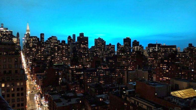 ¿Ovnis?: el destello azul que iluminó la noche de Nueva York