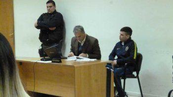 Christian Alaniz junto a su abogado defensor Guillermo Iglesias.
