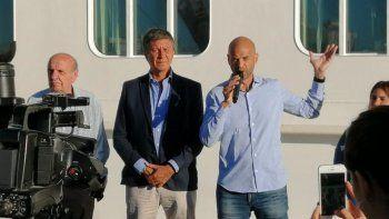 Guillermo Dietrich estuvo ayer en Puerto Madryn para inaugurar la terminal de llegada de cruceros.