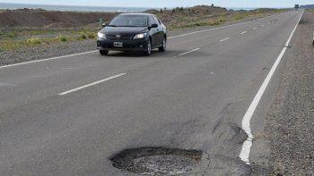 Ruta 3: Vialidad deberá reparar el tramo Comodoro-Caleta