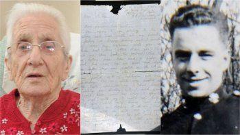 A sus 99 años recibió una carta de su novio desparecido en la II Guerra Mundial