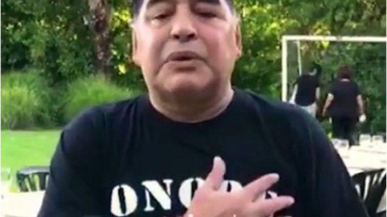 Maradona grabó un saludo por Año Nuevo y pidió que el país cambie y coma