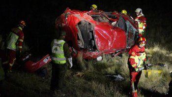 Tres riogalleguenses murieron al volcar un auto en Punta Arenas