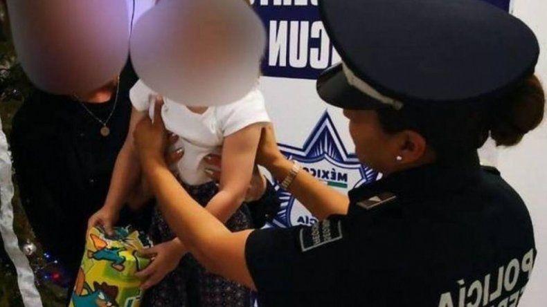 Rescatan en el aeropuerto de Cancún a una niña de 2 años que se llevaban a Turquía