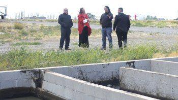 La Planta de Tratamiento de Residuos Crudos, ubicada en proximidades del puerto Caleta Paula, fue otro de los sitios inspeccionados.