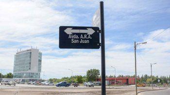 neuquen ya tiene dos calles dedicadas al ara san juan