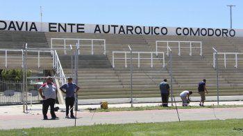 En el estadio municipal de la ciudad de Comodoro Rivadavia se están llevando a cabo diferentes trabajos de remodelación.