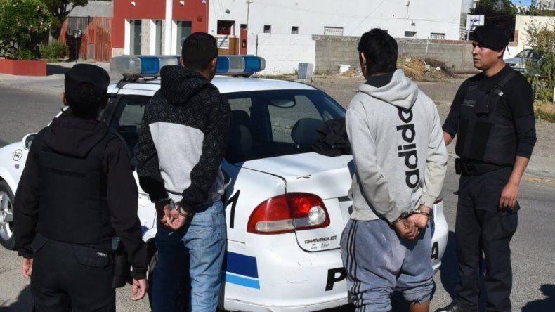 Los detenidos por personal policial del Comando Radioeléctrico