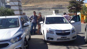 El momento de la detención de Brenda Vargas en Chacabuco y Ameghino.