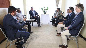 El presidente recibió al titular del Sindicato de Petroleros Privados, acompañado por otros dirigentes. De la reunión también participó el diputado nacional Gustavo Menna.