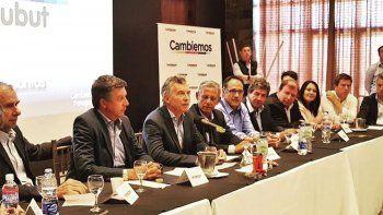 La reunión partidaria de Cambiemos Chubut que el martes fue encabezada por el presidente Macri.