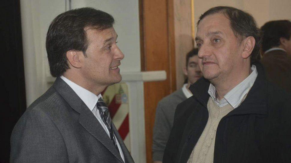 Gustavo Mac Karthy y Carlos Linares mantuvieron un encuentro el miércoles en Comodoro Rivadavia.