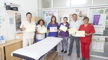 El equipo de profesionales del Centro de Salud de Rada Tilly.