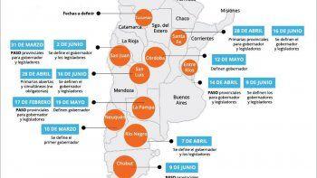 diez provincias adelantaran sus elecciones