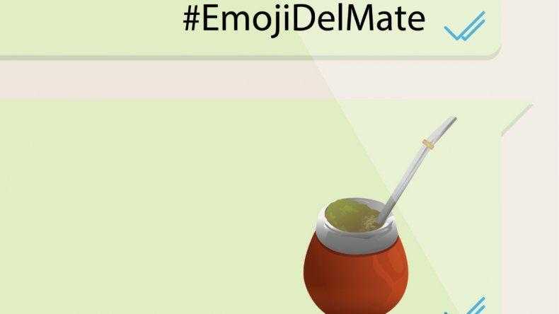 El mate tendrá su emoji en WhatsApp