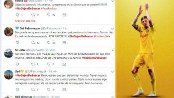 {alttext(,#NoDejenDeBuscar: el pedido de las redes sociales por Emiliano)}