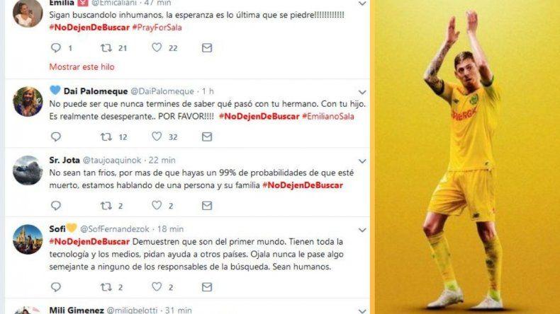 #NoDejenDeBuscar: el pedido de las redes sociales por Emiliano