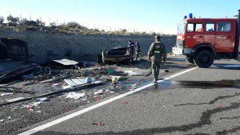 Accidente fatal en la Ruta 40: dos personas murieron calcinadas