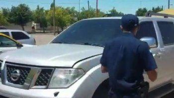 Interceptan en San Juan una camioneta que habría sido robada al gobierno de Santa Cruz
