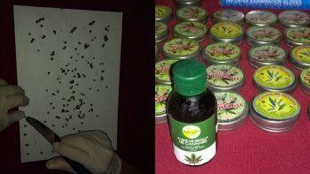 Gendarmería incautó aceite de cannabis