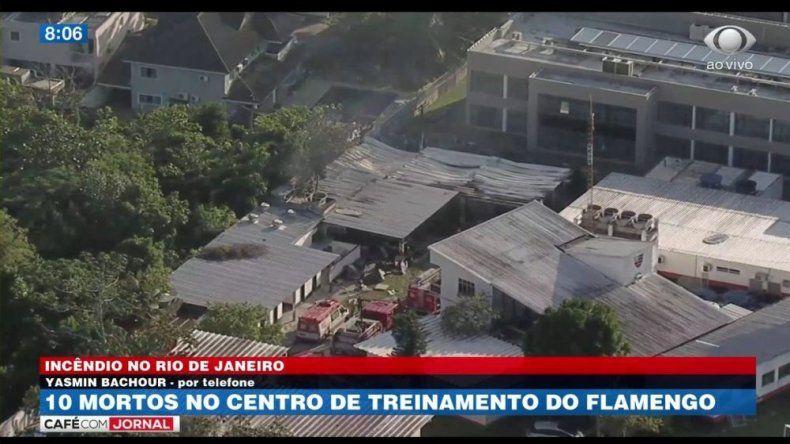Se incendió el centro de entrenamiento de Flamengo: hay diez muertos