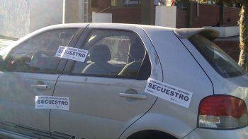 El vehículo que fue secuestrado en relación a la investigación de la causa.