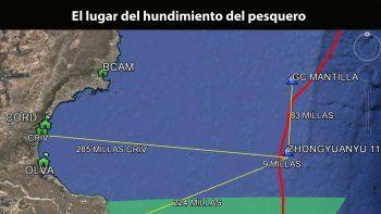 Rescatan ilesos a 30 tripulantes chinos  al hundirse un buque