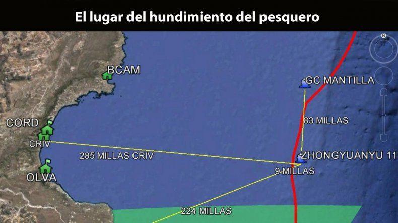 Rescatan ilesos a 30 tripulantes chinos  al hundirse un buque frente a Comodoro