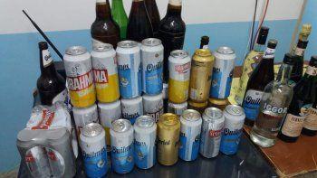 dos detenidos y secuestro de bebidas en el festival frutos del mar
