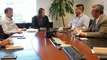 La reunión de Claudio Vidal con el presidente de Sinopec Argentina, Zhai Huiahai, tuvo lugar en horas de la mañana.