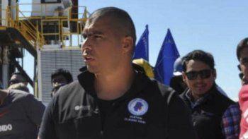 El secretario adjunto del Sindicato Petrolero Santa Cruz, Rafael Guenmchenén.