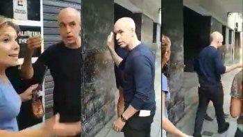 Vecinos escracharon e insultaron a Rodríguez Larreta